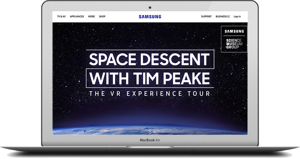- To launch the experience, we built a page within Samsung.com that was driven to by paid and organic social assets. Take a look at my copy on the live site.