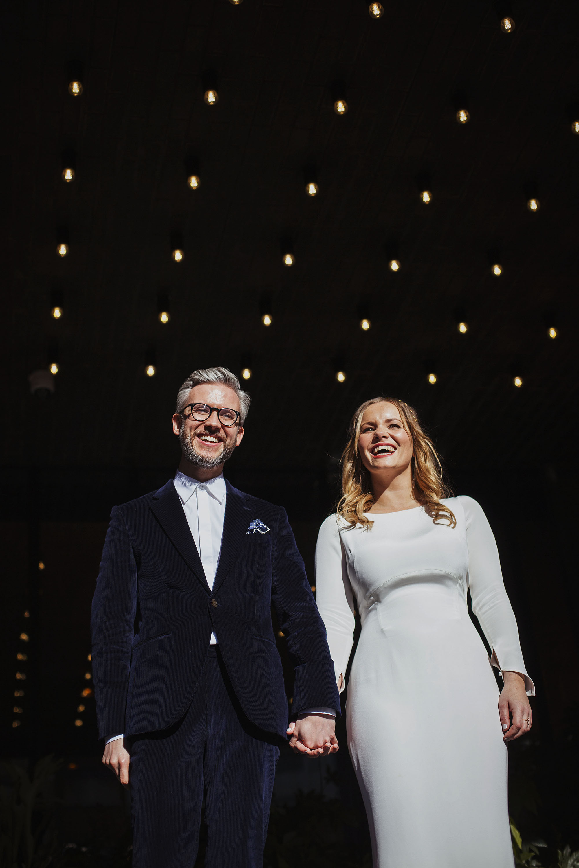 Bride and groom couple portrait