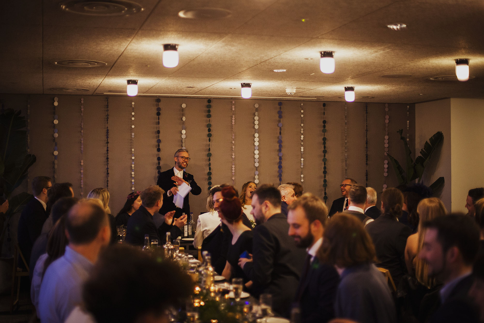 groom's speech at wedding at the ace hotel london