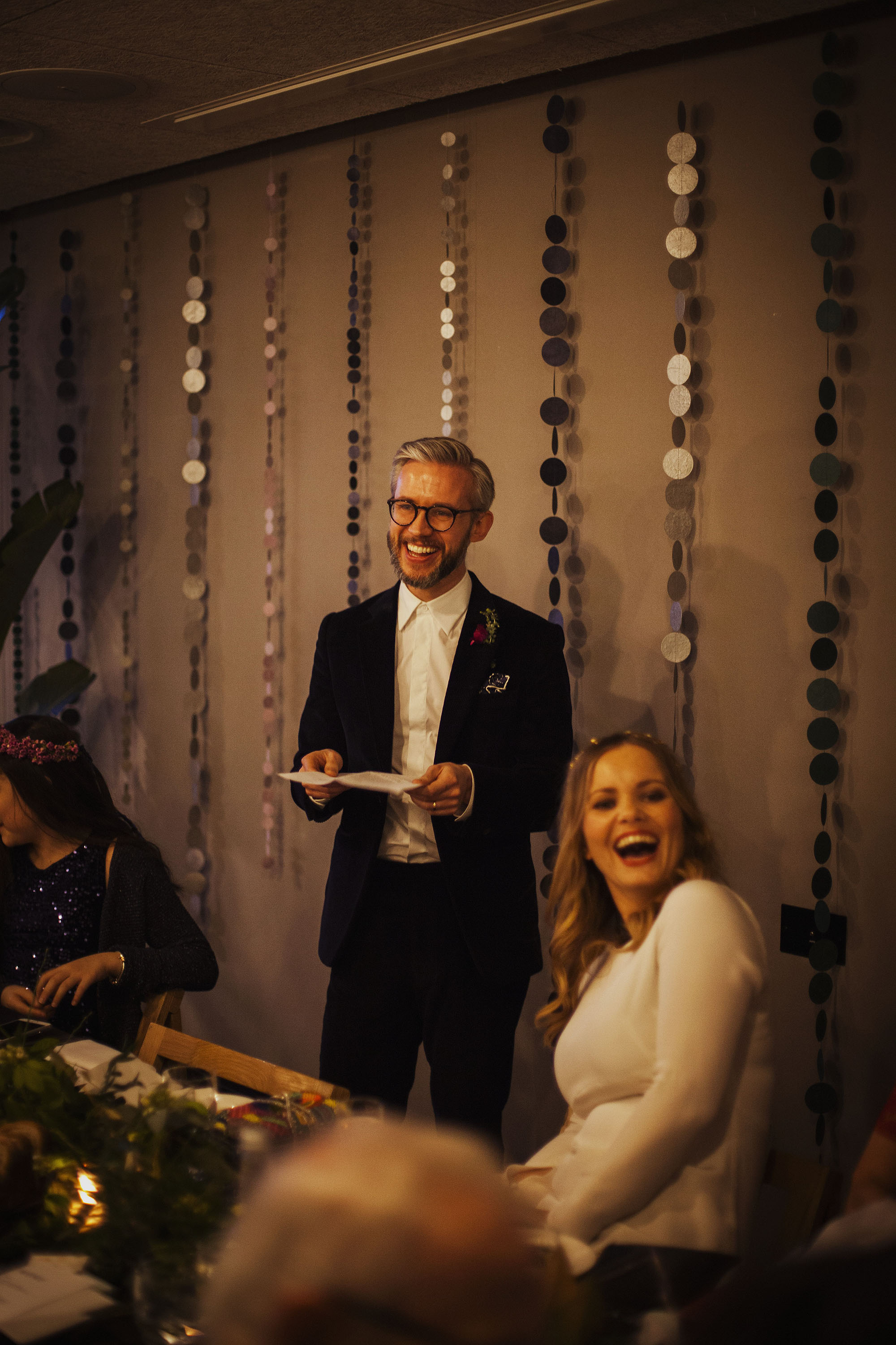 grooms speech at wedding at the ace hotel london