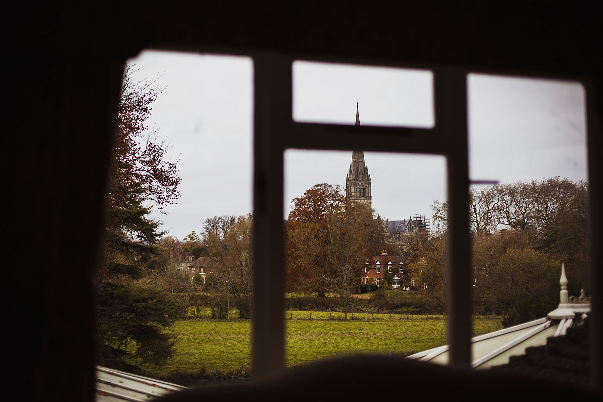 view out of window grasmere house hotel salisbury