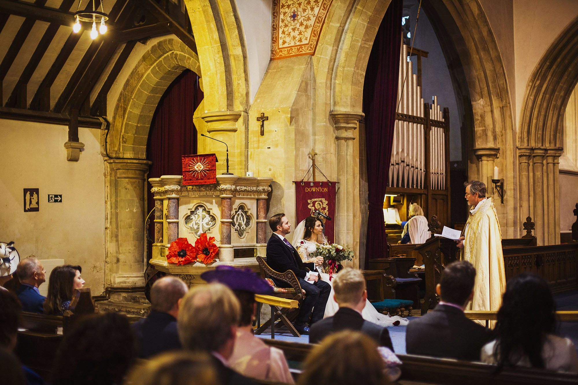 bride and groom wedding ceremony at st laurence church