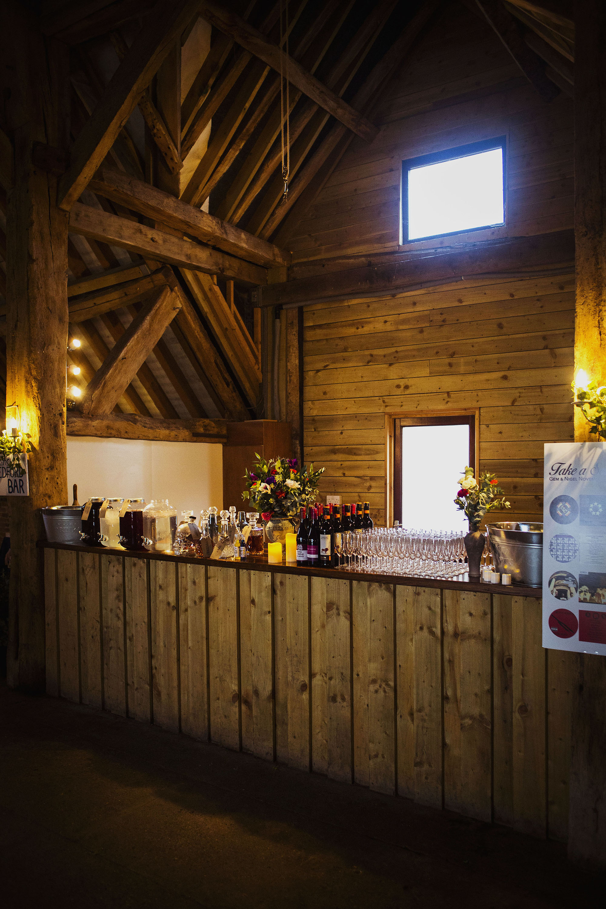 the bar at barford park wedding venue in wiltshire