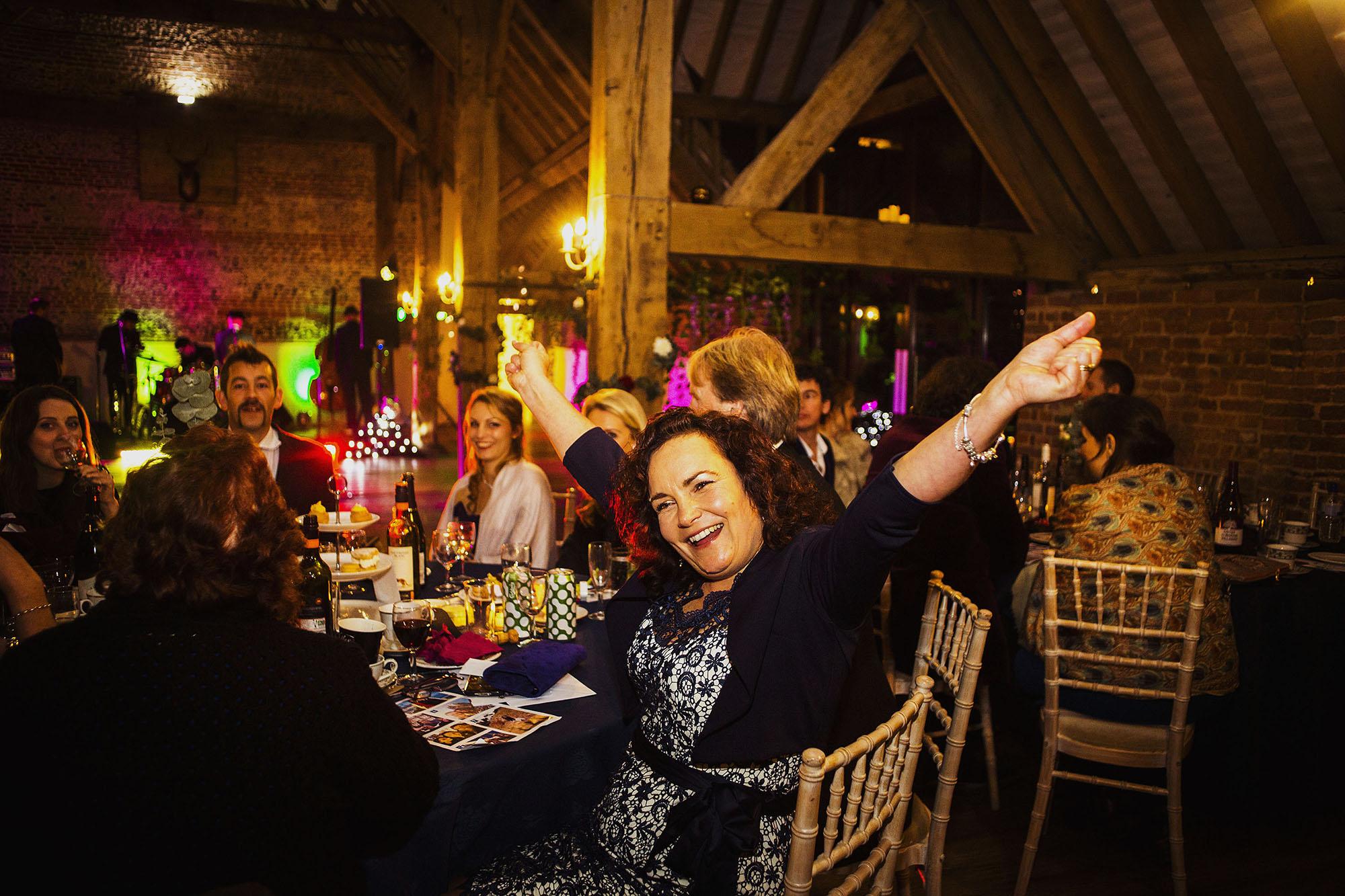 pub quiz at wedding at barford park in wiltshire