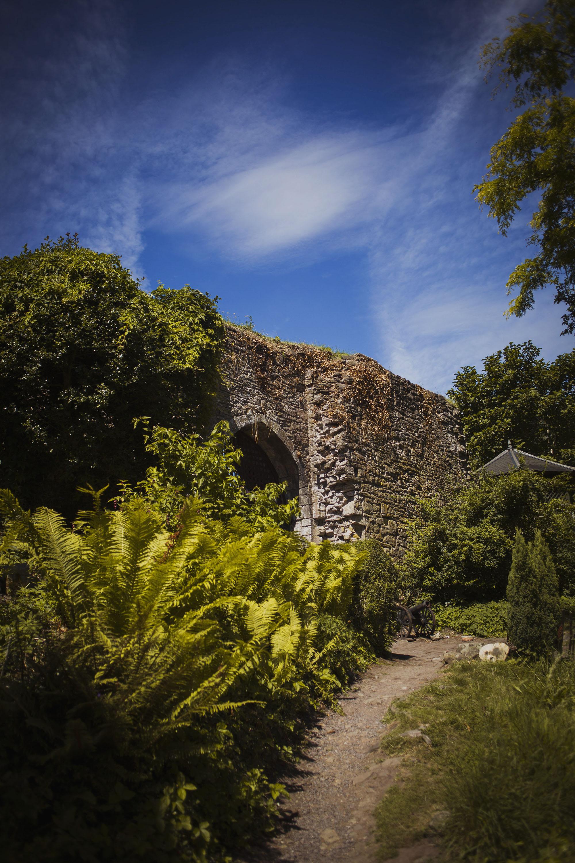 usk castle in july