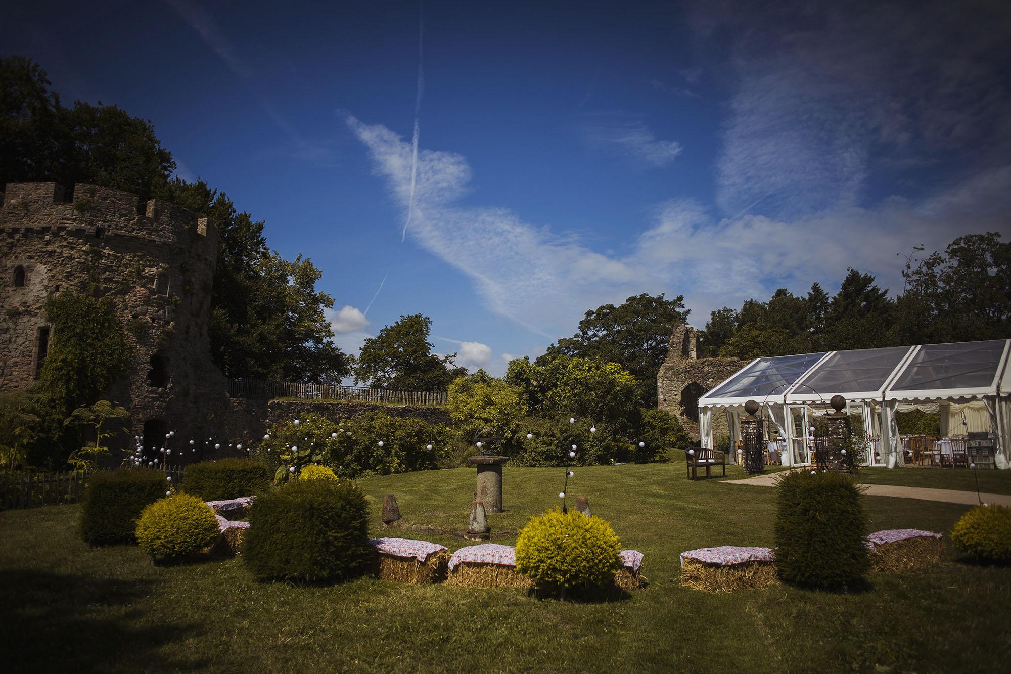 usk castle in south wales wedding venue