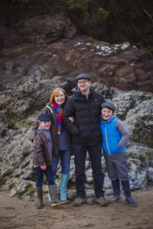 family photoshoot at llansteffan beach in carmarthen