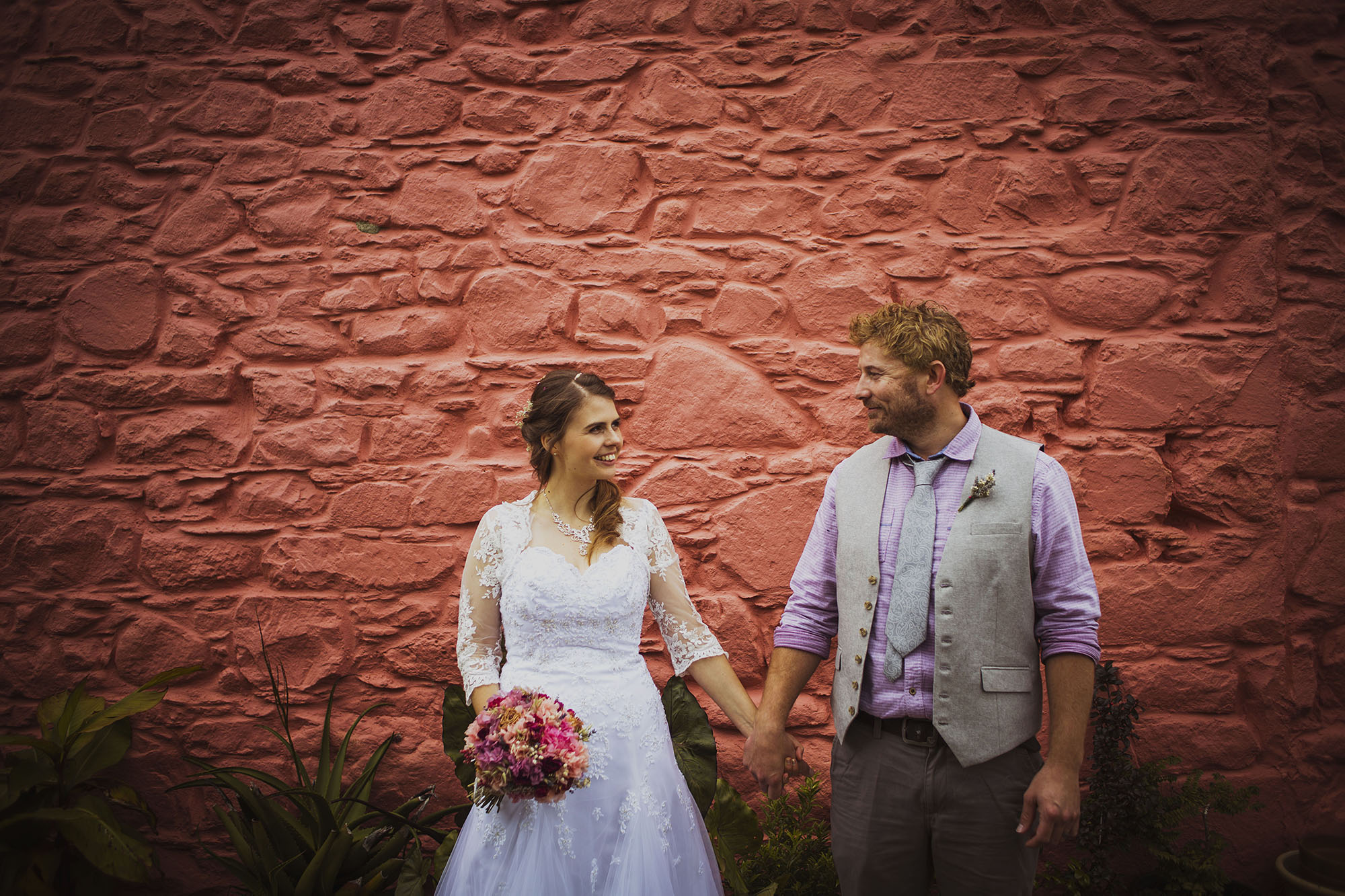 bride and groom at dyffryn fernant gardens in pembrokeshire