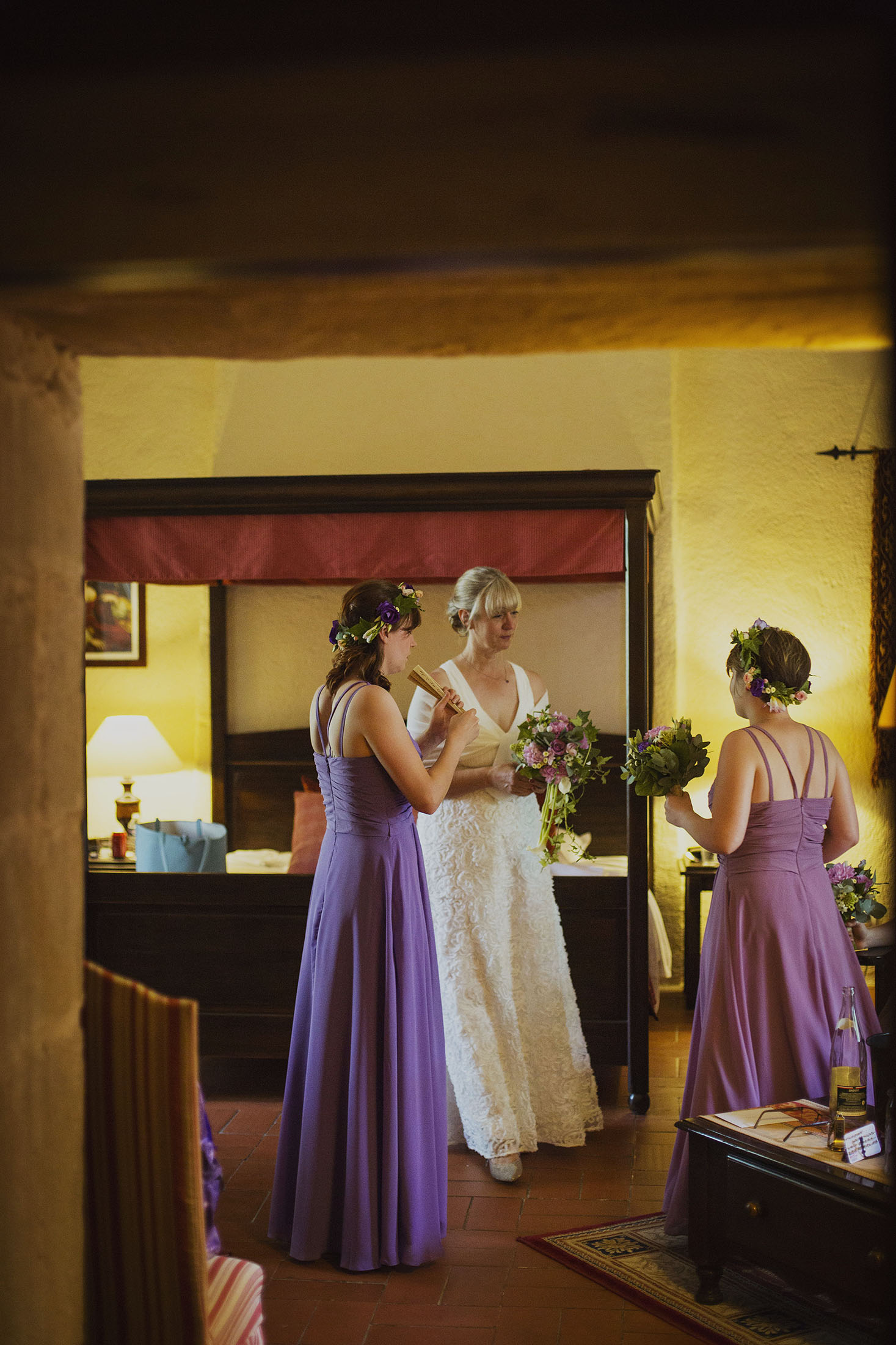 bridal preparations at chateaux des ducs de joyeuses france destination wedding photography