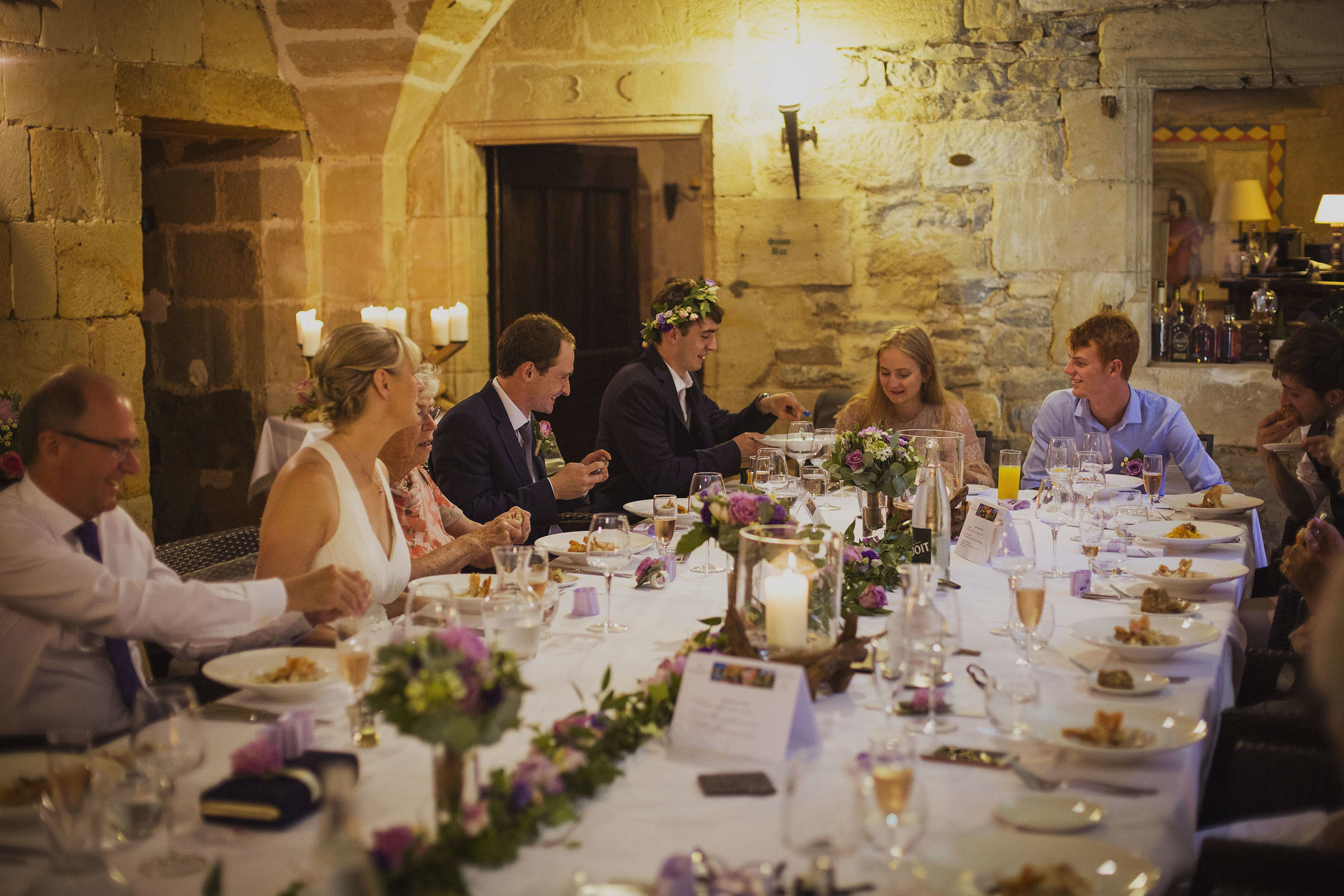 wedding breakfast at chateaux des ducs de joyeuses france destination wedding photography