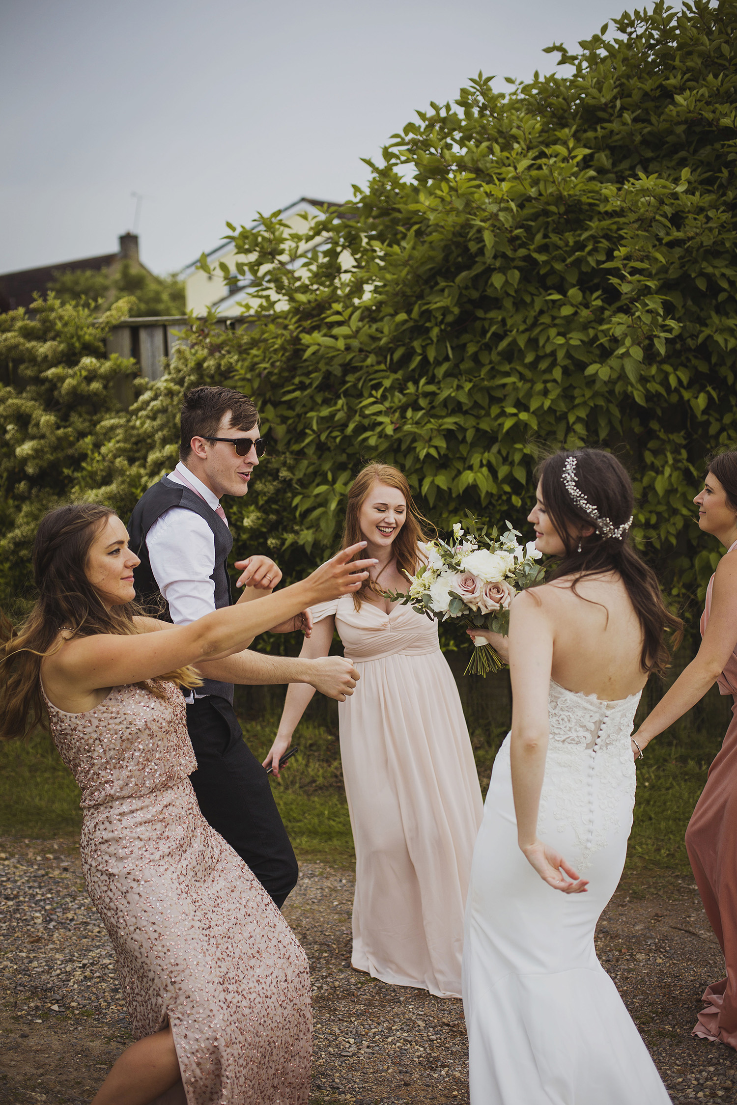 dancing at cott farm barn wedding venue somerset