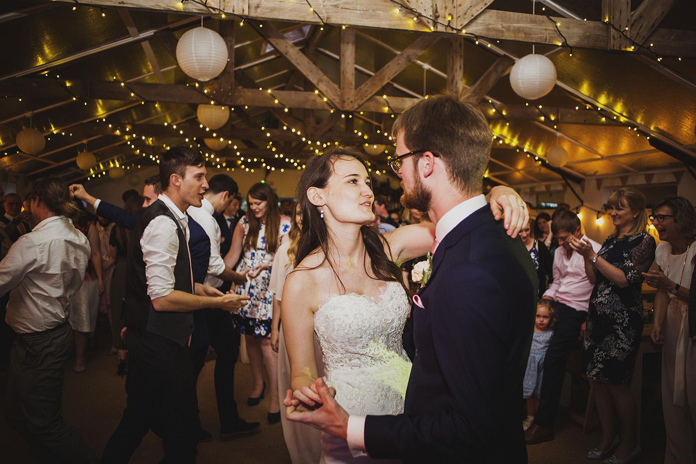 first dance at cott farm barn wedding venue somerset