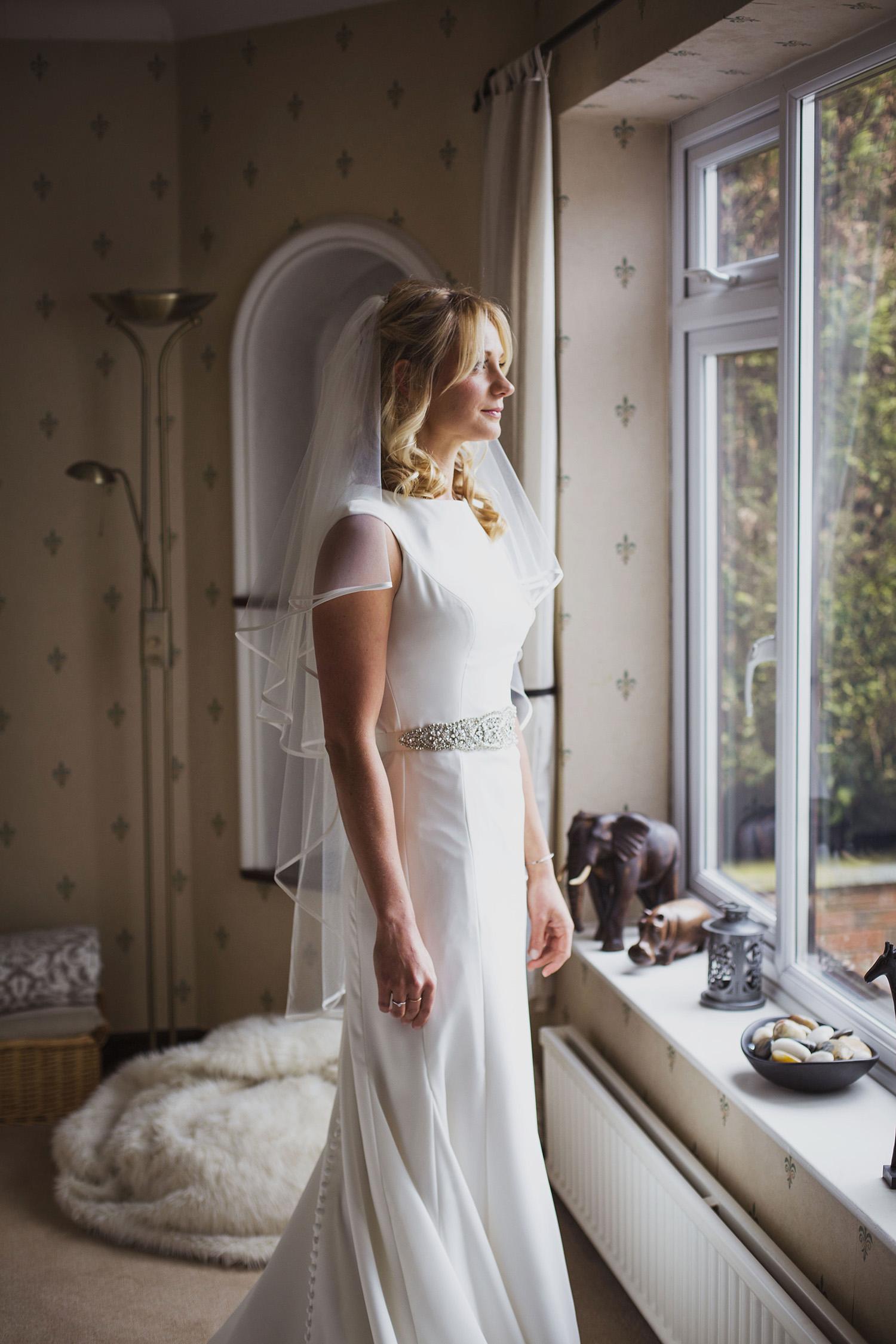 bride ready at diy wedding in midlands