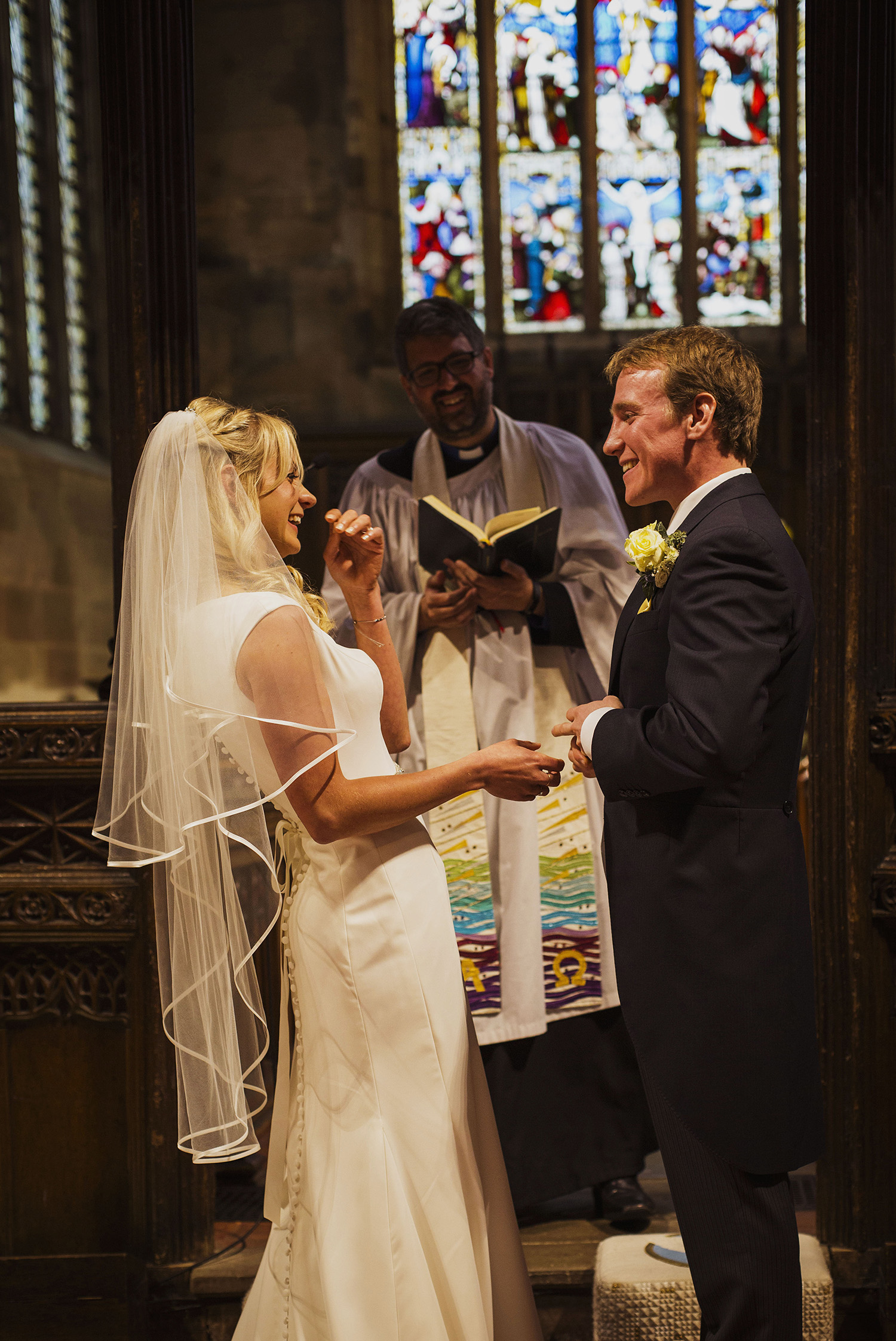 wedding ceremony at knowle parish church