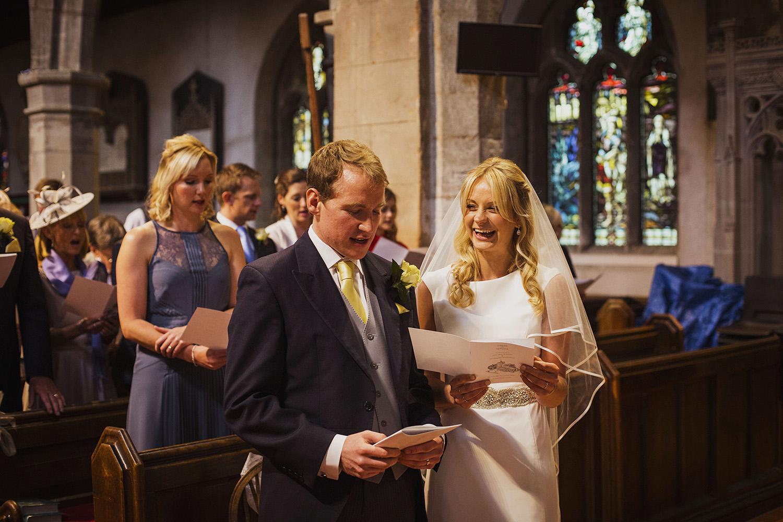 hymn at wedding ceremony at knowle parish church