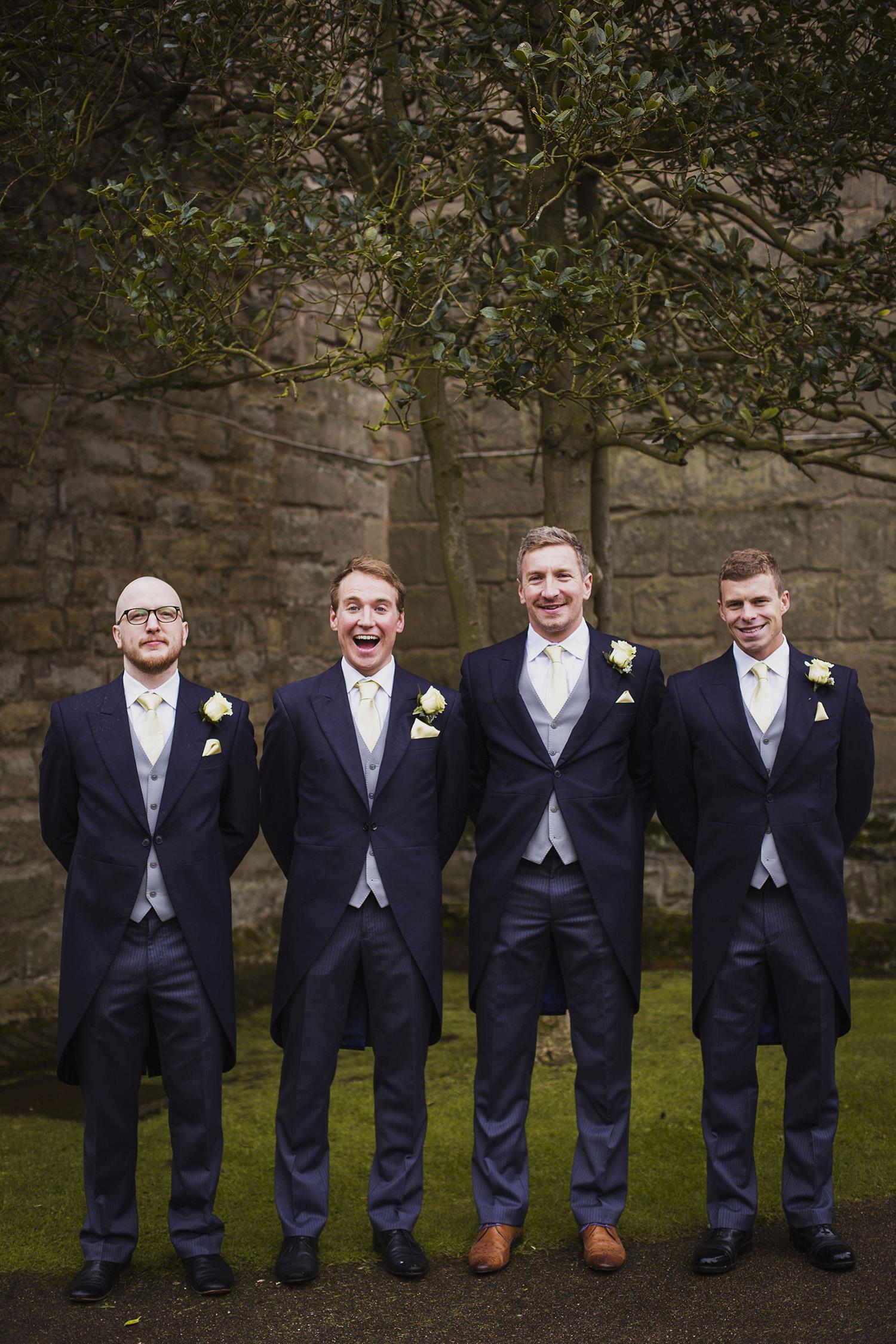 groom with groomsmen knowle parish church wedding