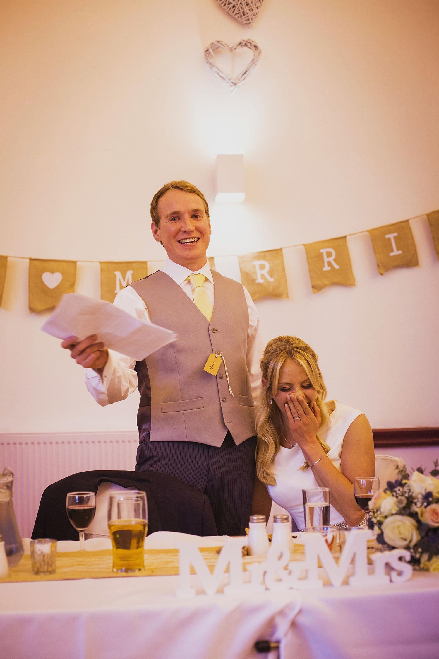 groom's speech at fentham hall diy wedding