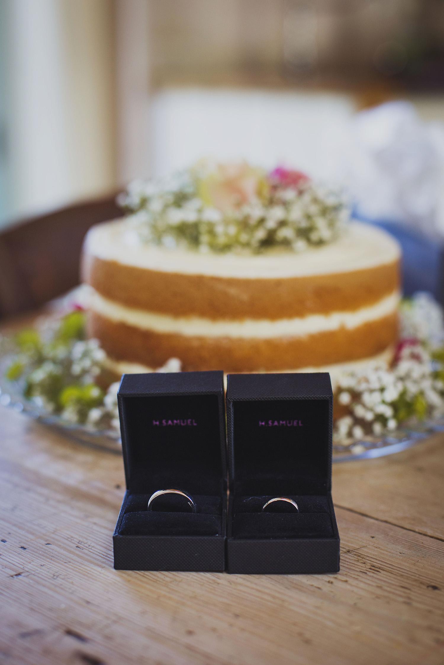 wedding rings at nantwen wedding venue