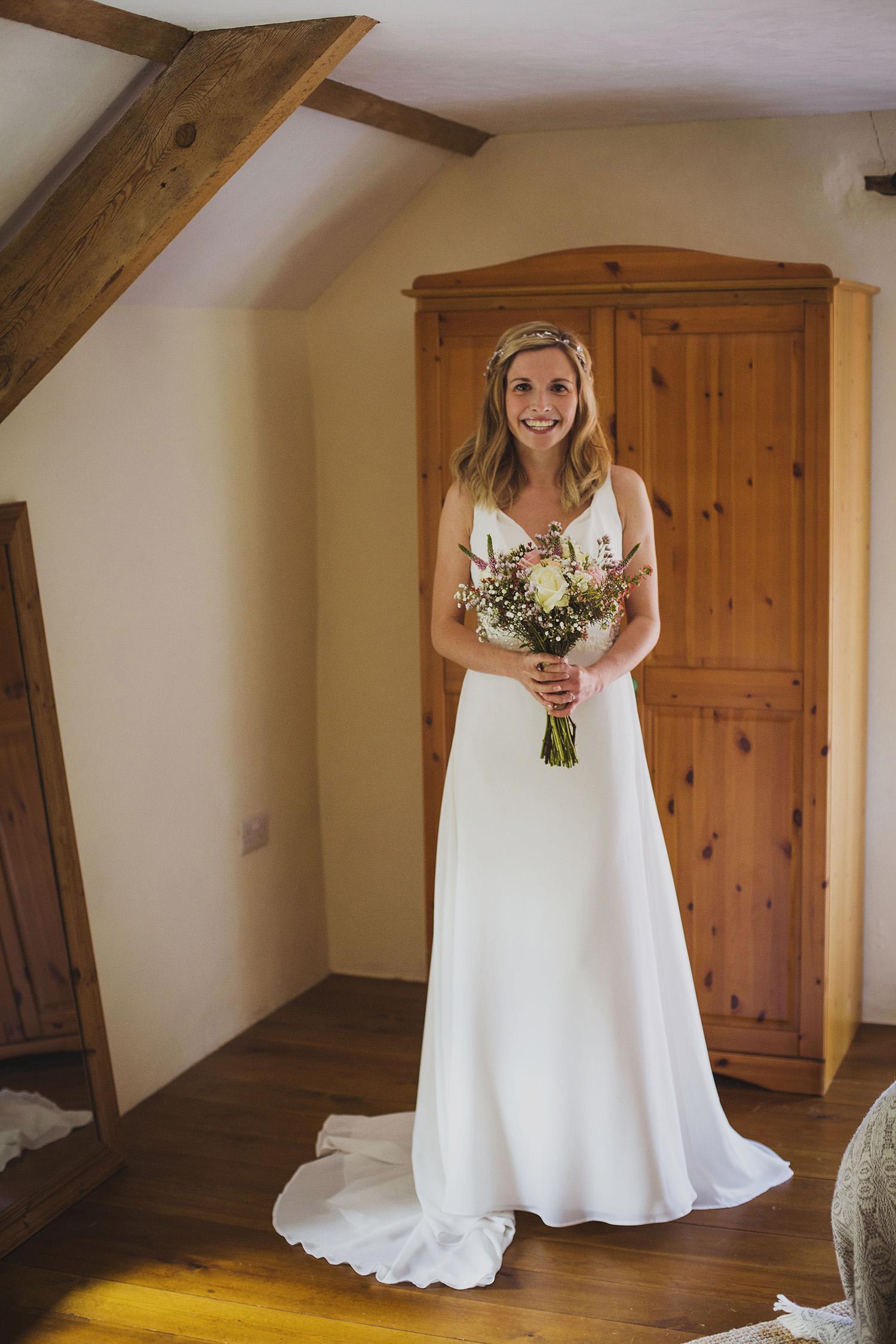 bride ready for nantwen wedding