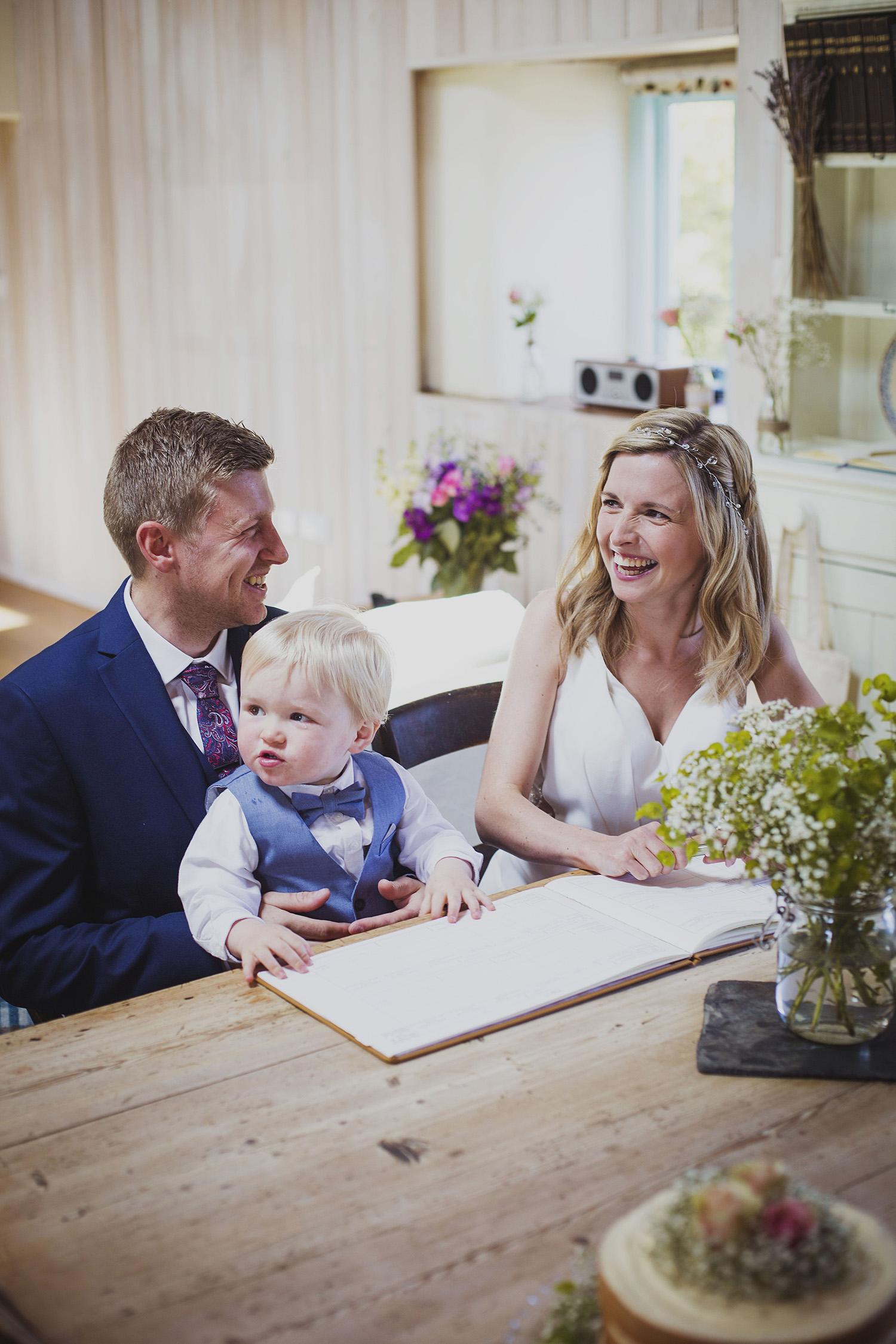 signing the register elopement wedding ceremony at nantwen
