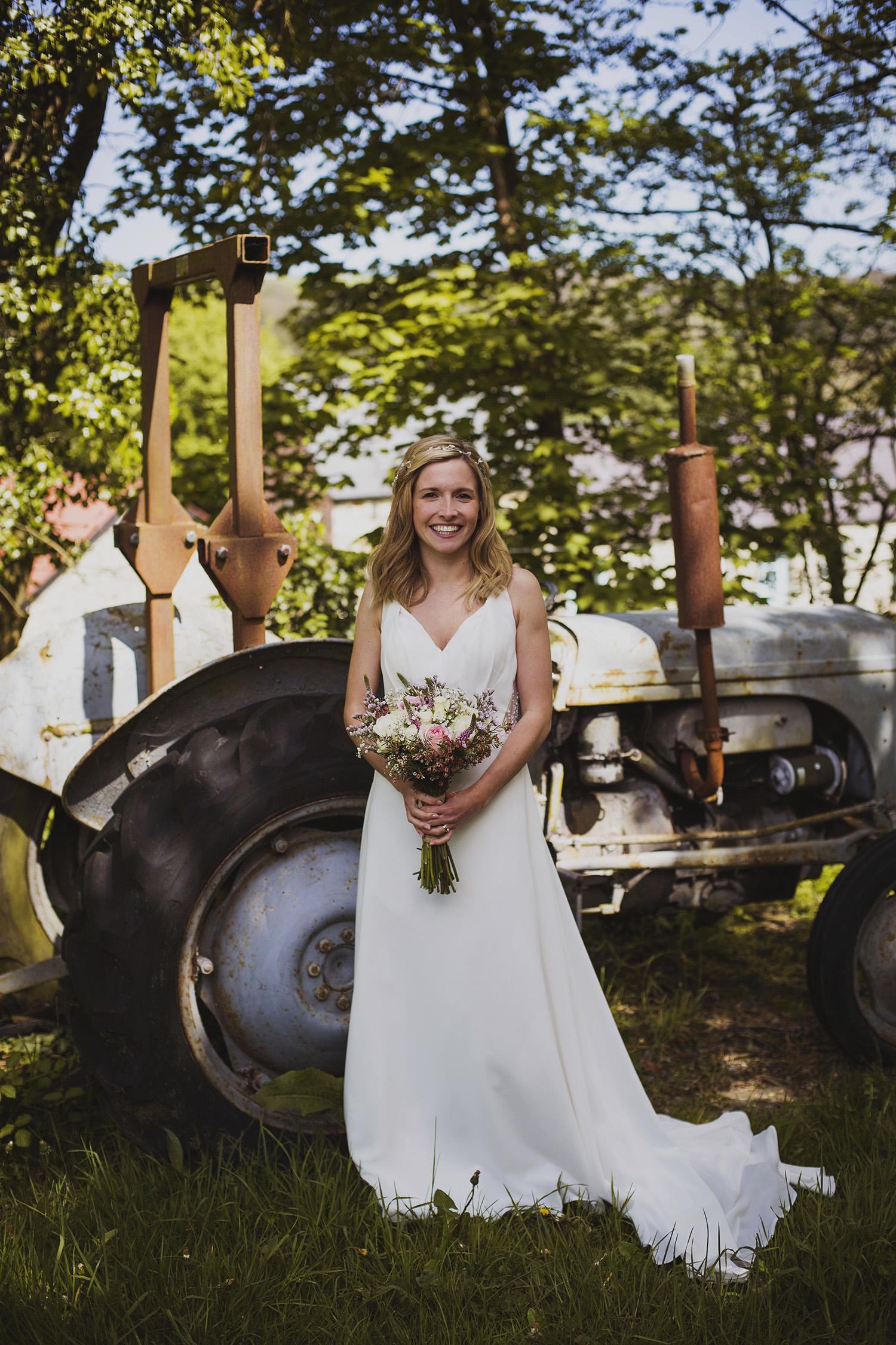 portrait of the bride at nantwen