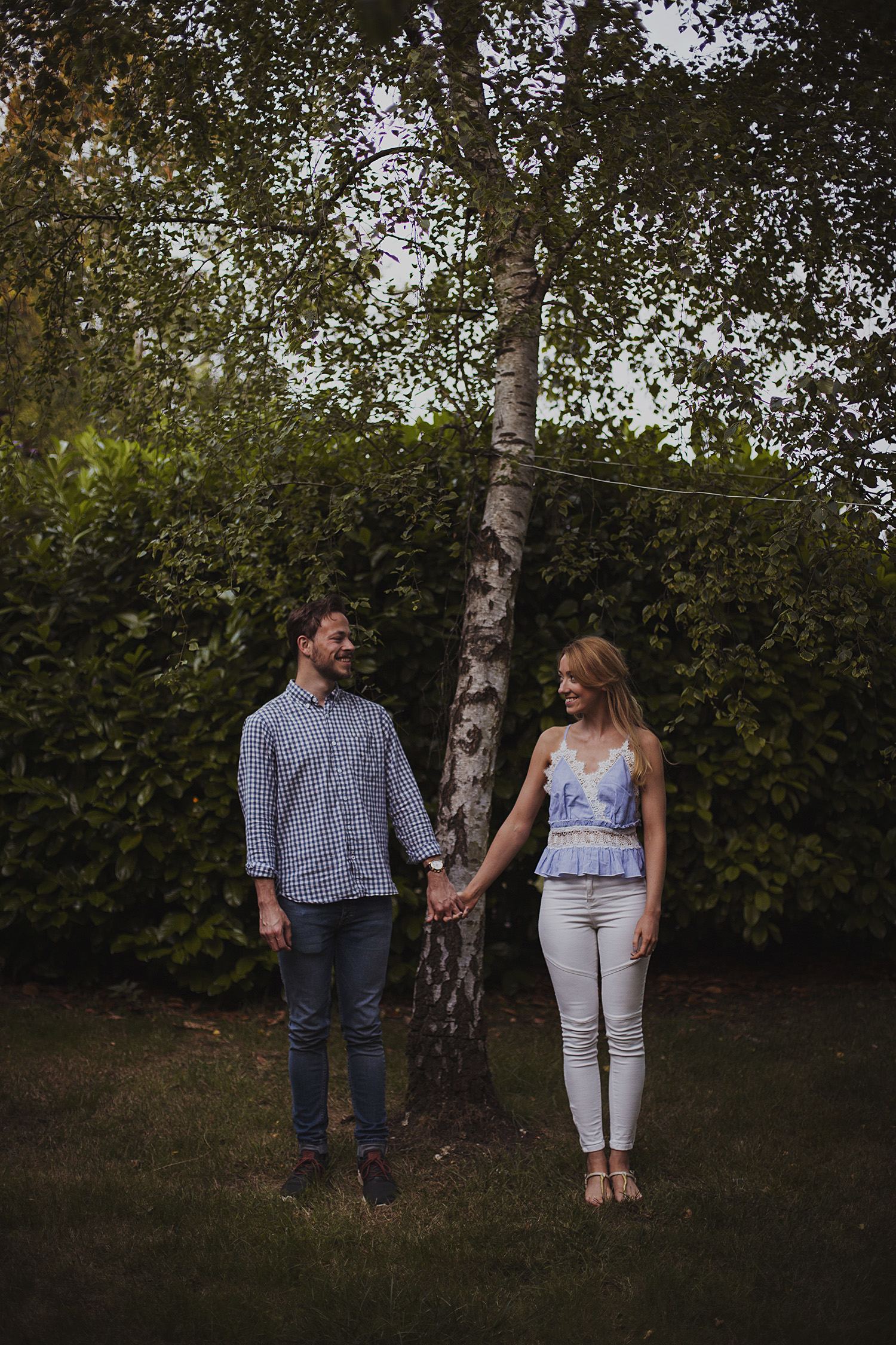 natural engagement photography