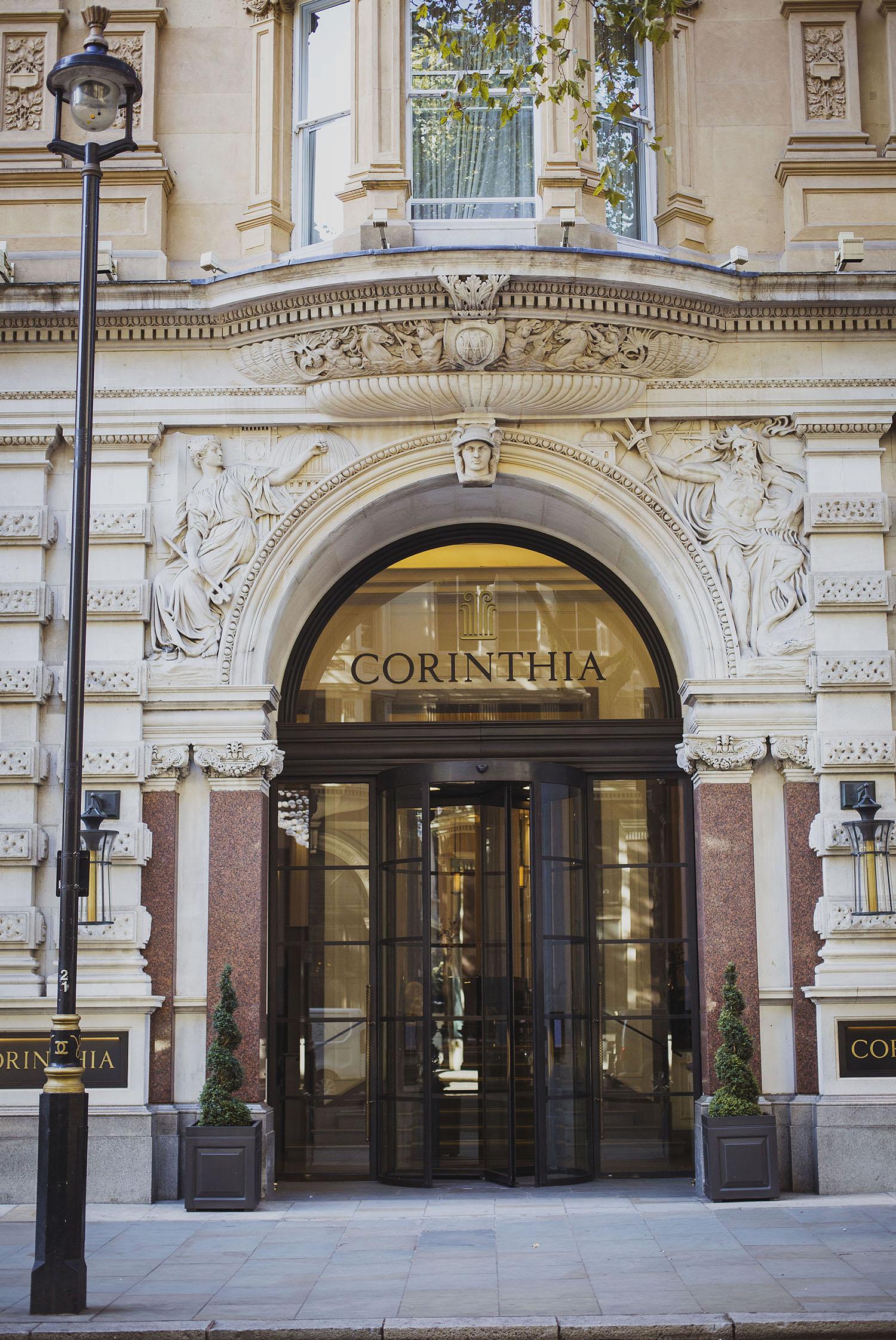 Corinthia hotel entrance Corinthia hotel wedding photographer