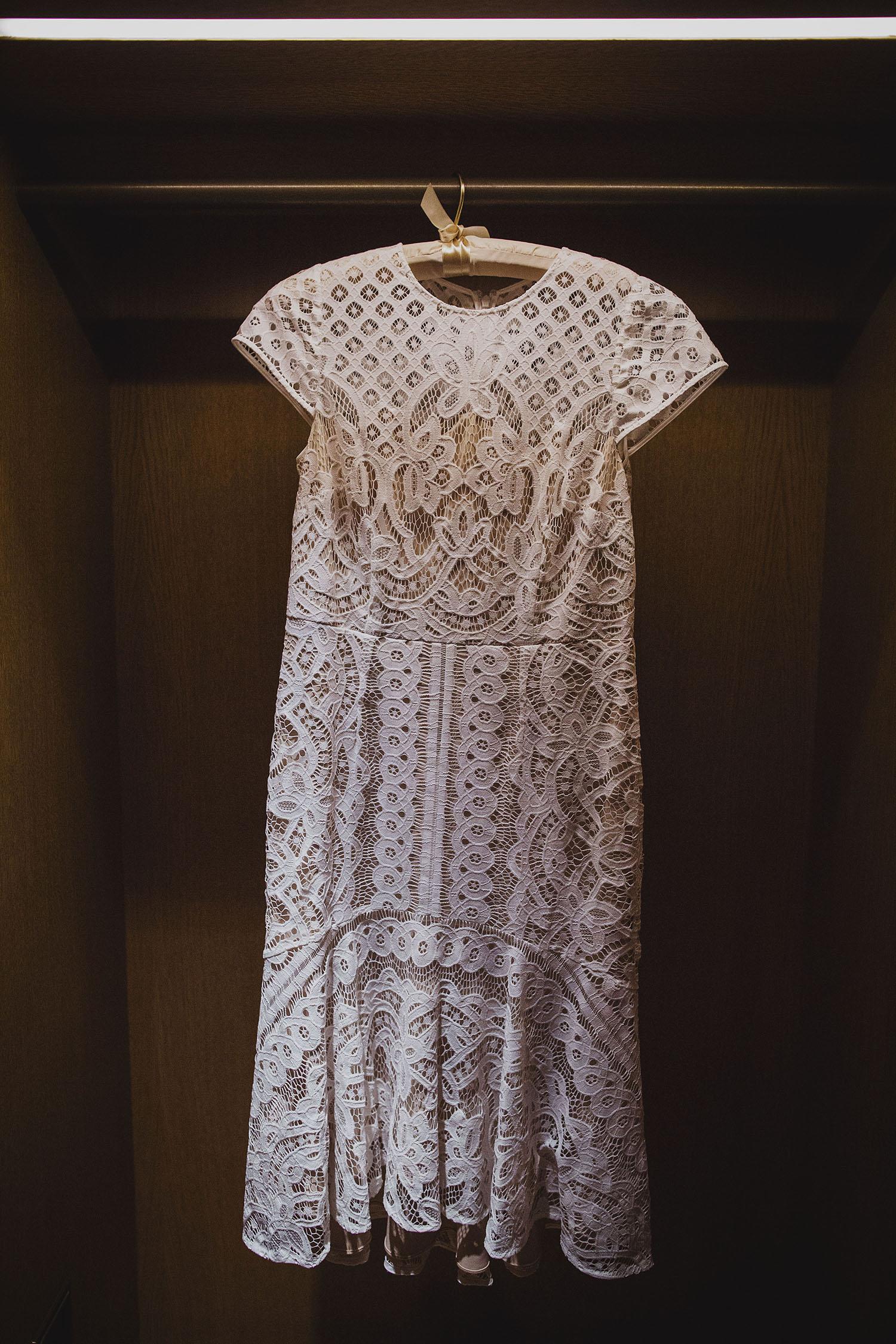 bride's dress bridal prep corinthia hotel london wedding photographer