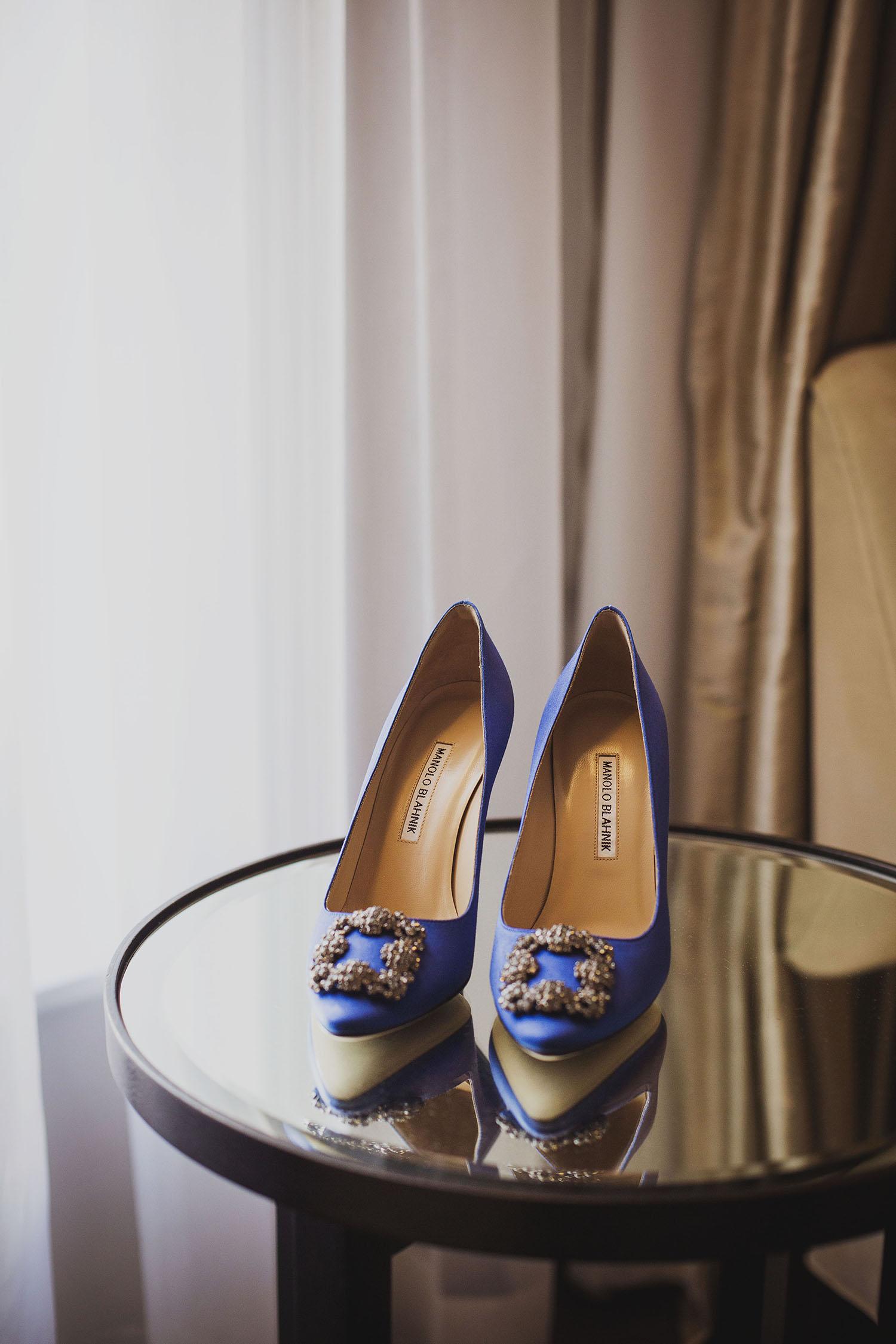 manolo blahnik shoes bridal prep corinthia hotel london wedding photographer