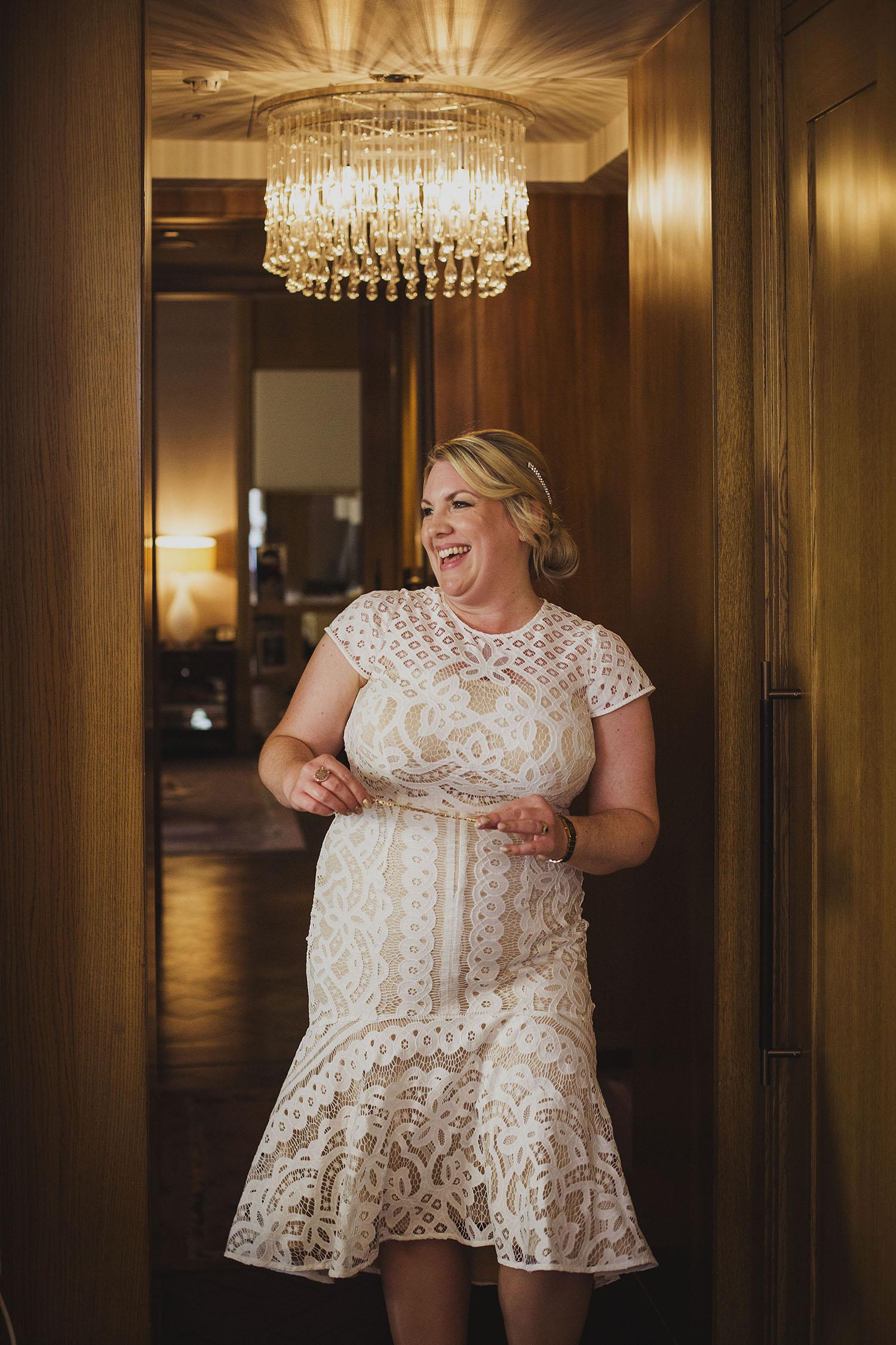bride corinthia hotel london wedding photographer