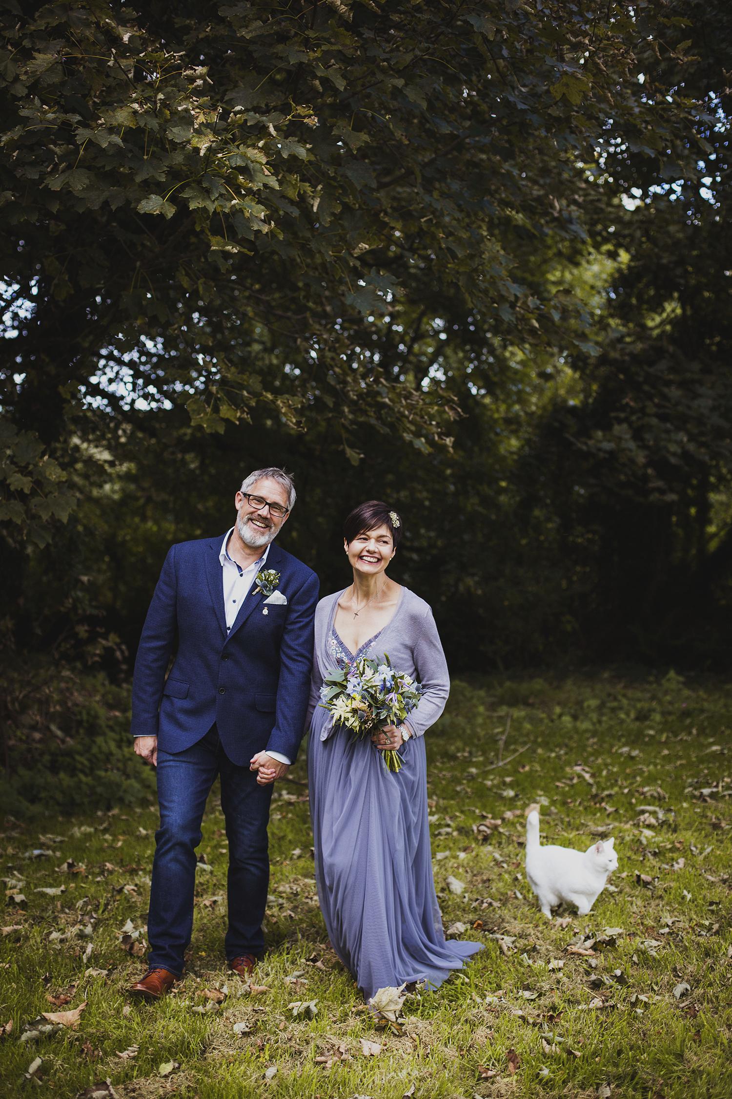 nantwen wedding pembrokeshire wedding photographer bride and groom with parsnip