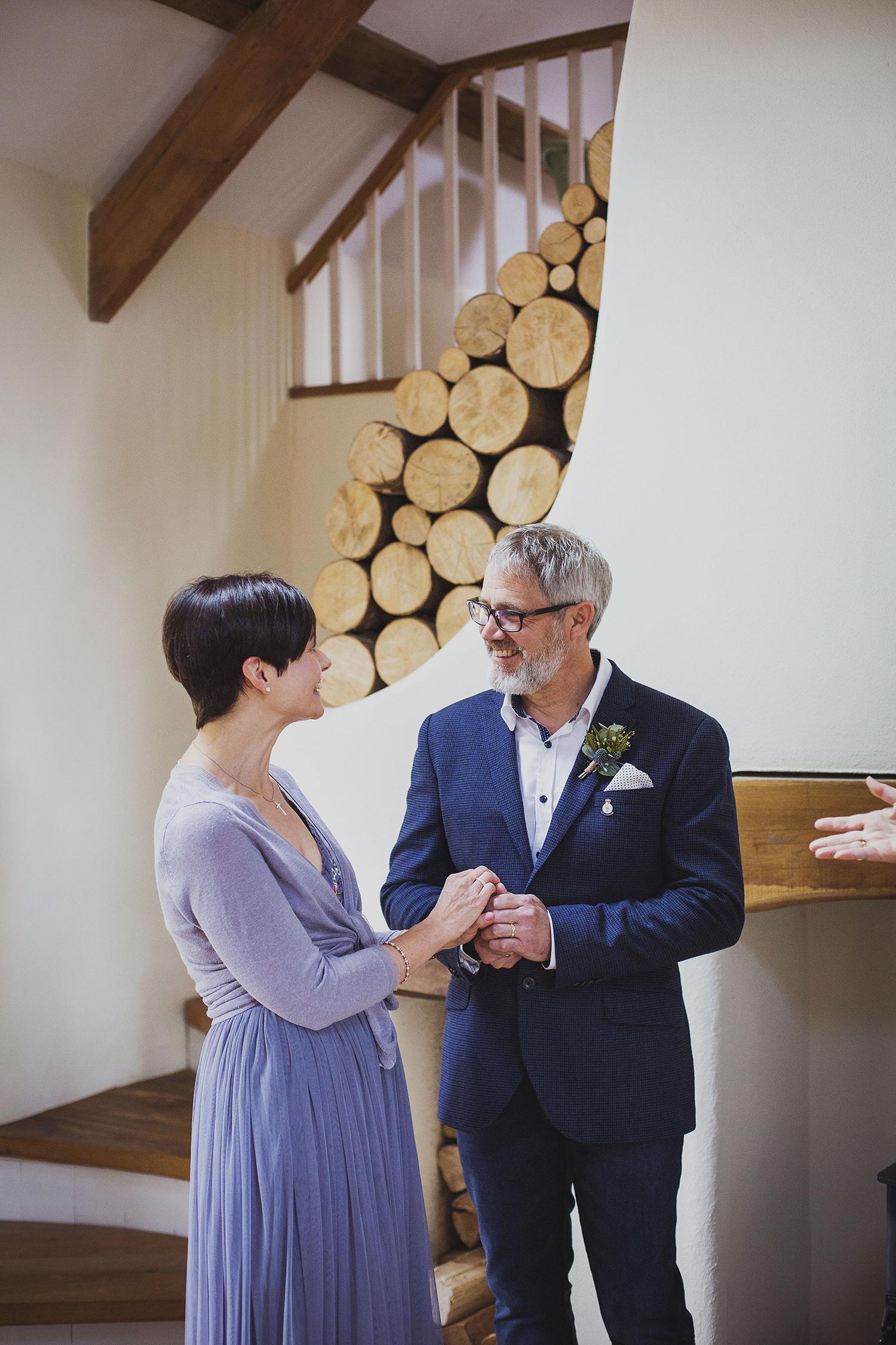 wedding ceremony in cottage at nantwen wedding photographer pembrokeshire wedding photography