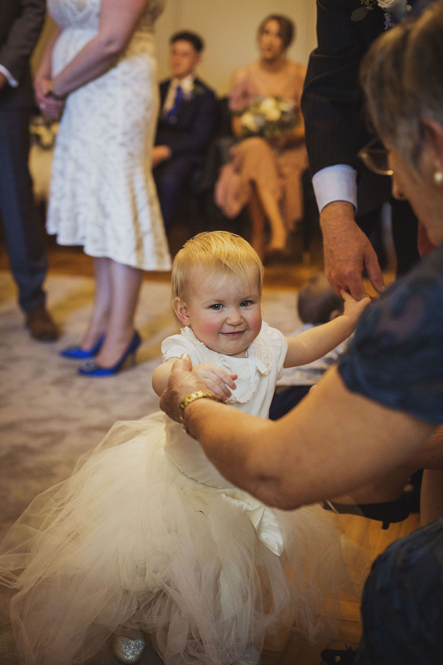 flower girl pimlico room the old marylebone town hall wedding photographer