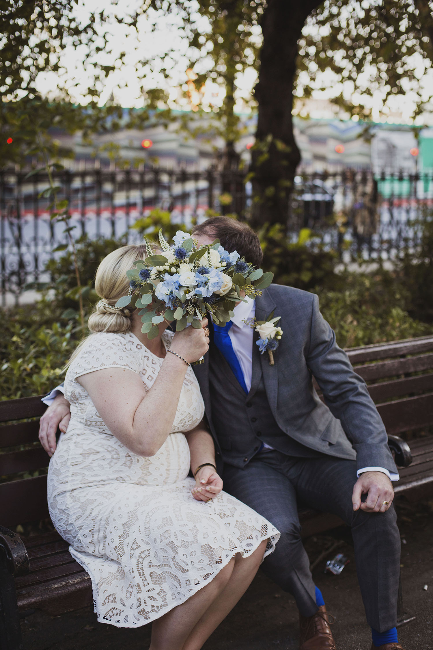 bride and groom portraits whitehall gardens london wedding photographer