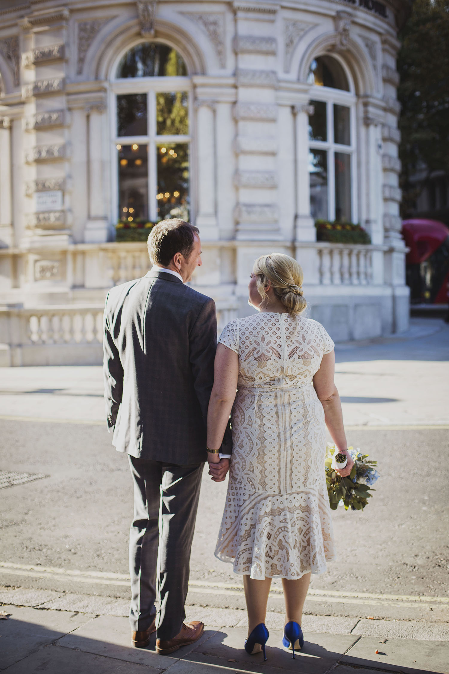 bride and groom portraits corinthia hotel london wedding photographer