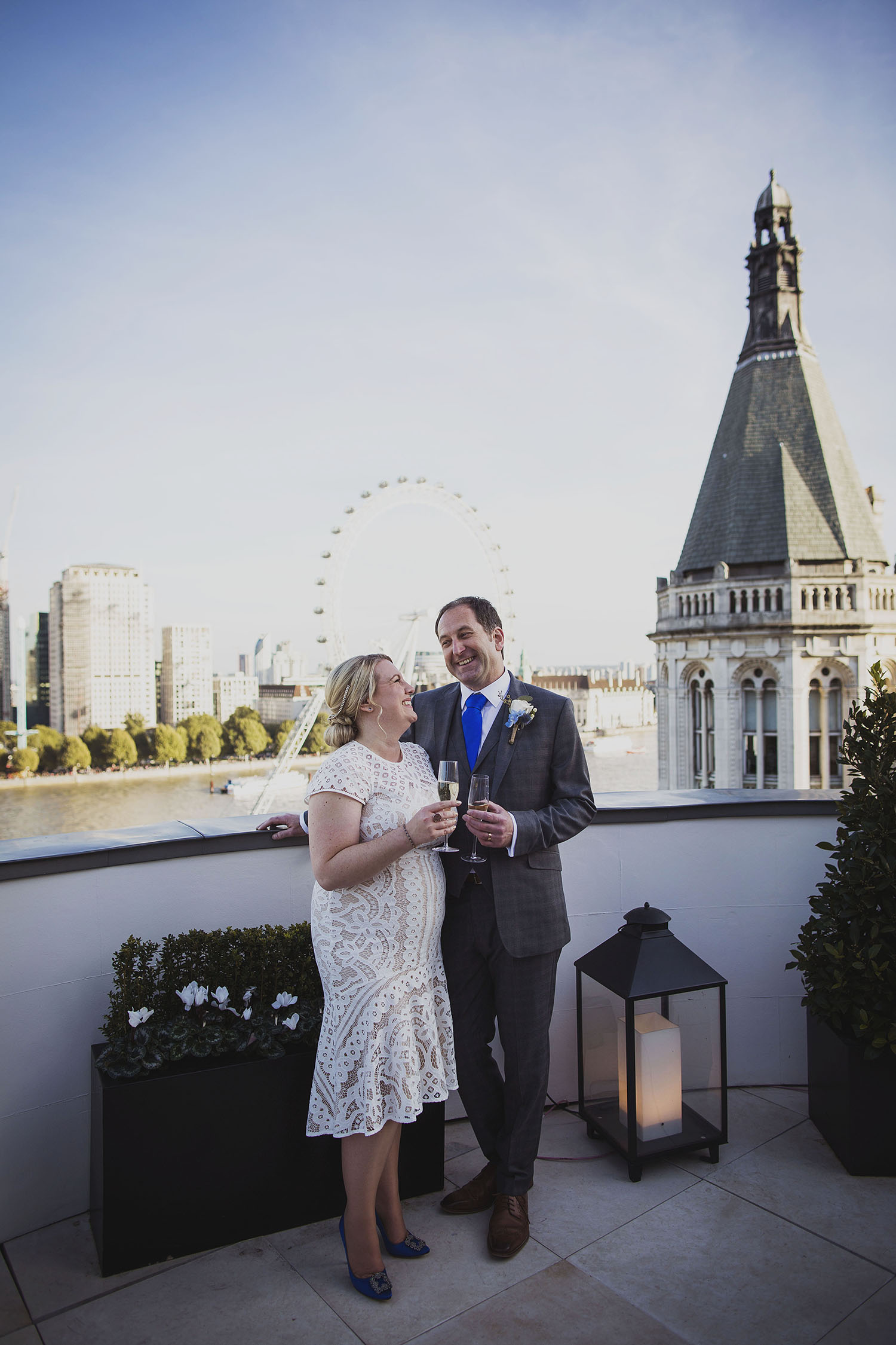 bride and groom portraits royal penthouse suite corinthia hotel london wedding photographer