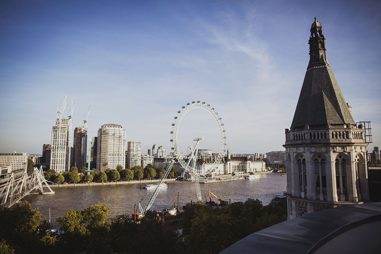 view from corinthia hotel london royal penthouse suite corinthina hotel wedding photographer