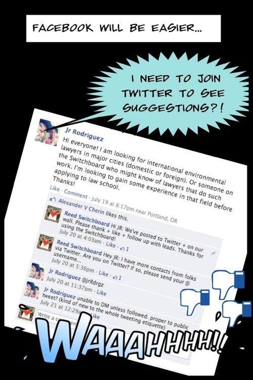 Facebook networking fail