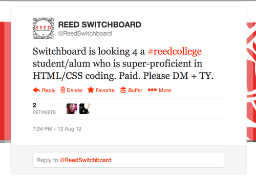 The beginnings of Switchboard.