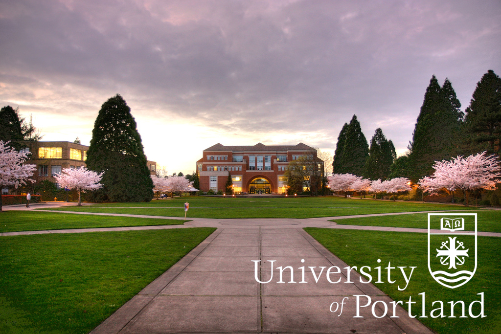 The University of Portland   Academic Quad. Photo by Pilot  Thomas Le Ngo  '08.