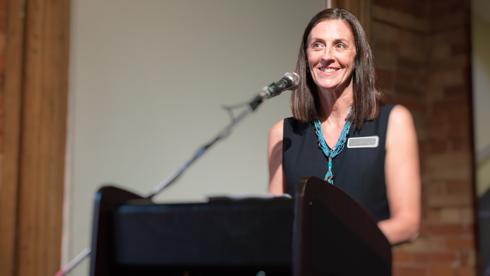 Marlene Scheel at the University of Guelph-Humber's 2015 alumni reunion.