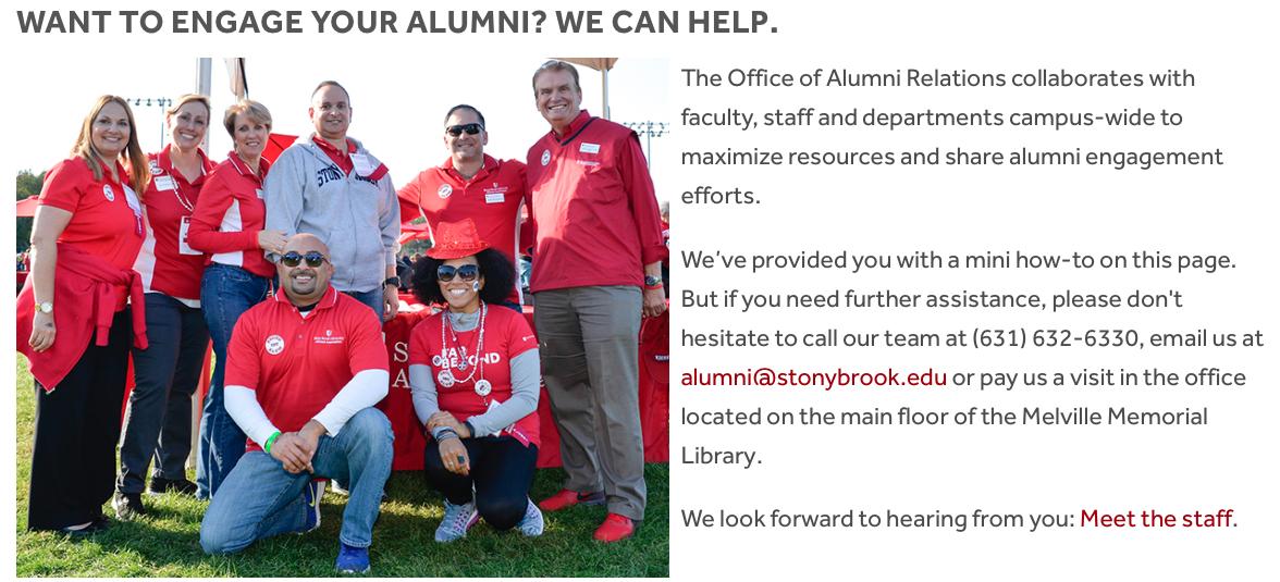 Stony Brook alumni relations toolkit