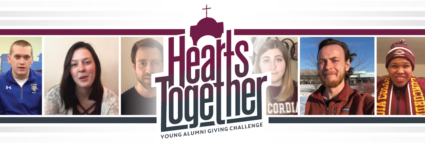 Concordia College Young Alumni Giving Challenge banner