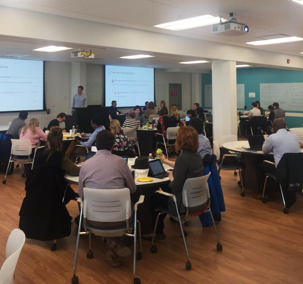 Tim Cooper, Switchboard's director of partner education and success, led the training at Alberta with our COO, Chelsea Haring.