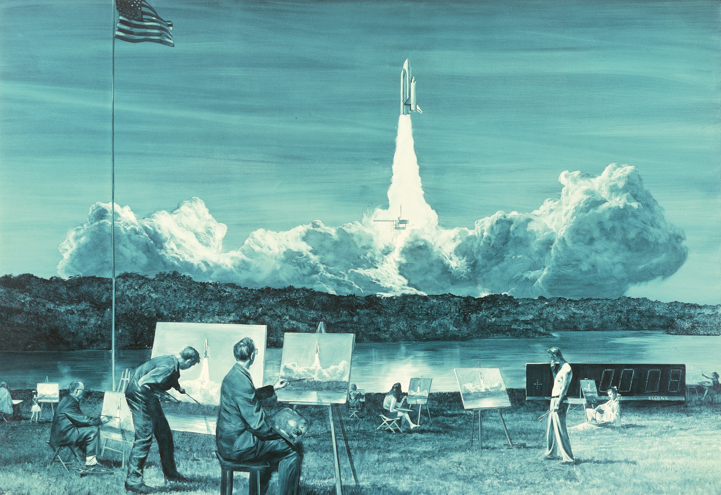 Mark Tansey,  Action Painting II , 1984. Oil on canvas