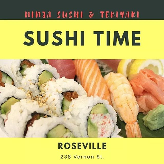 🍹🌴It's FRIDAY!! It's SUSHI TIME!!! (Which is all the time.) Come see us! Tomorrow (Sat) is karaoke night with DJ Mike 5:30-9:30pm. #ninjaroseville #downtownroseville #sushi #sushitime #cocktails #drinkspecials #nigiri #karaoke #karaoketime