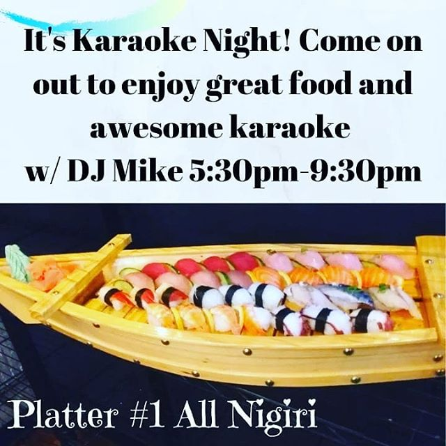 School week started back? Come on out to relax at karaoke night at Ninja w/ DJ Mike 5:30-9:30PM. Try our featured summer drink specials $4, $5, $6. Something on the menu for the whole family! #downtownroseville #ninjaroseville #sushi #sushitime #karaoke #rosevillekaraoke