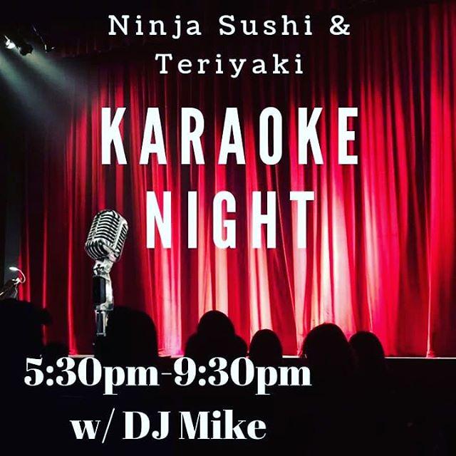 It's Karaoke Night w/ DJ Mike 5:30-9:30PM. #downtownroseville #ninjaroseville #sushi #sushitime #karaoke #rosevillekaraoke #beer #cocktails