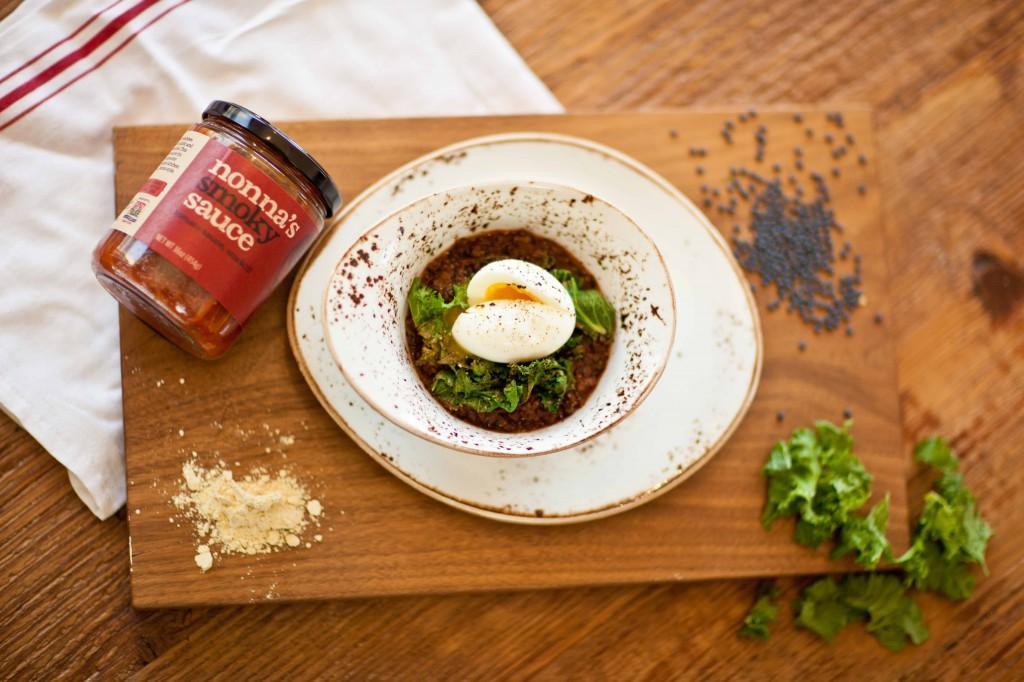 Smoky-Stewed Lentils | Mustard Greens | Soft Egg