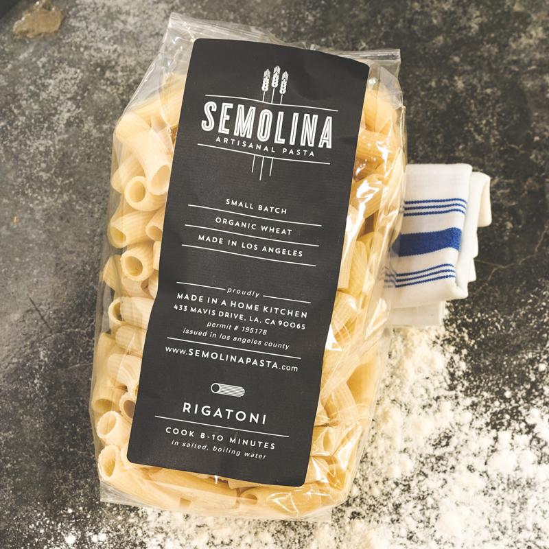 Semolina Artisanal Pasta   Rigatoni